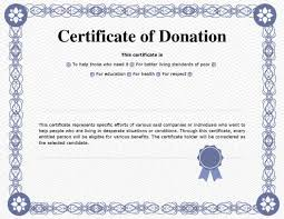 Donation Certificate Template Awesome 44 Printable Donation Certificates Templates