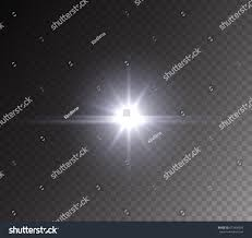 Camera Flash Light Effect Headlight Camera Flash Light Effect Isolated Stock Vector