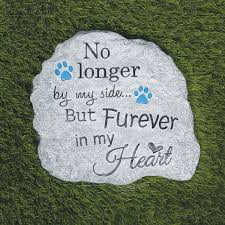pet memorial garden stone and wall hanging indoor outdoor paw print plaque for dog or cat