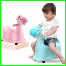 2019 Lovely Cartoon Deer Portable Baby Childrens Potty With Wheels Baby Training Toilet Toy Car Boys Girls Unisex Child Toilet Seat From Kitchenhome