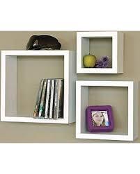 Cube Wall Shelves Small Floating Shelf Box Display Wood Decor Set of 3  Storage