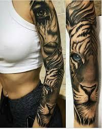 Tiger Tattoo Sleeve Animaltattoosleeve тату Pinterest