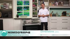 How To Light Midea Gas Oven 36sme5gfr00p48 Midea Gas Oven And Cooktop Overview Appliances Online