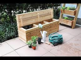 free plans build a modern outdoor storage bench