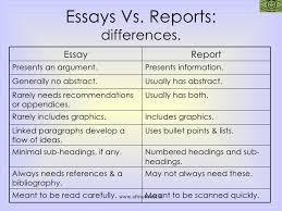 what are main differences between essay and report  2 03 jpg