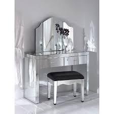 Modern Bedroom Vanities Bedroom Makeup Vanities White Vanity Enclose Storage Mirror