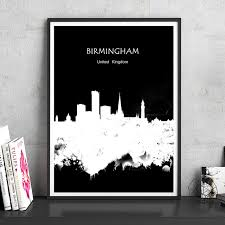 aliexpress com buy birmingham uk watercolor print poster home