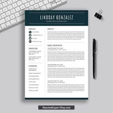 Modern Resume Etsy Modern Resume Template Word Professional And Simple Resume Template Cover Letter Instant Download Cv Template Creative Resume Design