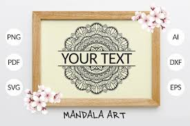 Only custom graphics created by a real designer. Split Mandala Graphic By Foundream Creative Fabrica