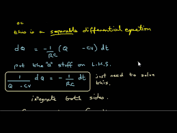 derive equation for charge on a capacitor wmv