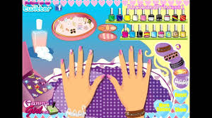 nail polish games barbie salon manicure makeover free for