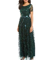 Tahari Arthur S Levine Size Chart Tahari Asl Petite Size Sequin Embroidered Lace Short Sleeve Gown