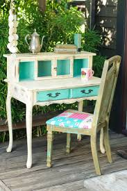 top 599 ideas about furniture shabby chic desk i m a huge fan of turquoise and i love mixing so i whipped up some cece caldwell s paints in destin gulf santa fe turquoise and a dash of spring hill