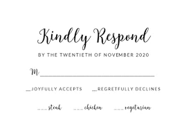 Our Wedding Rsvp Card Template Free Greetings Island
