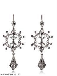 silky filigree chandelier earrings arabel lebrusan black women