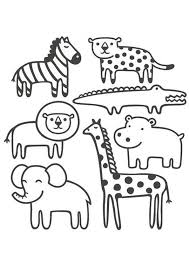 But none can forbid you to color this stripes too. Coloring Pages Little Safari Animals Coloring Pages