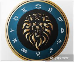 Plakát Zodiac Kola S Znamení Lva Tetování Design