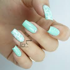 Light Blue Acrylic Nails, Halloween Nail Art Designs Further ...