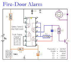 how to build a simple fire door alarm circuit diagram fire alarm using thermistor ppt at Fire Alarm Circuit Diagram