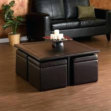 square storage coffee table exciting dark brown square minimalist wood and leather ottoman storage coffee table with seating sets idea square wood storage