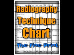 Portable X Ray Technique Chart X Ray Techniques Chart Template And Radiography Technique