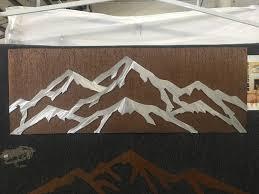 aspen mountain ski resort cabin decor mountain house artwork metal wall art ski and snowboard gift for skiing and snowboarding lover
