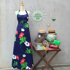 Hawaiian Dress Designers Maxi Designer Hawaiian Dress Happy Laundry Day Vintage