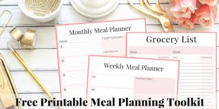 weekly meal plans on a budget free printable meal planning on a budget toolkit