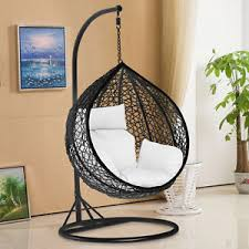outdoor furniture swing chair. Rattan-Hanging-Swing-Chair-Patio-Garden-Egg-Chair- Outdoor Furniture Swing Chair T