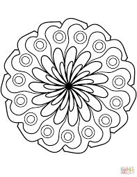 Mandala Met Simpel Bloemornament Kleurplaat Gratis Kleurplaten Printen