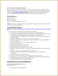 Cosmetology Resume Hair Salon Invoice Template How To Write Cosmetology Resume 17