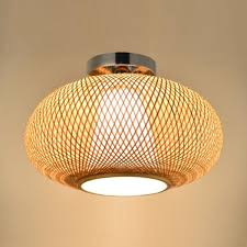 What Is A Flush Mount Ceiling Light Bamboo Wicker Rattan Shade Flush Mount Ceiling Light