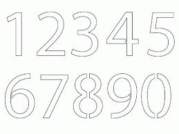number templates 1 10 number templates 1 10 standart picture stencil number 2 a