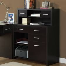 interesting home office desks design black wood. L-Shaped Desk With Hutch Home Office : Modern Black Furniture Of L Interesting Desks Design Wood O