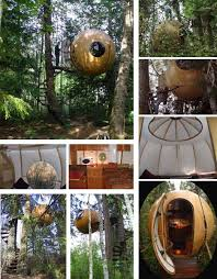 Amazing Tree Houses  Plans  Pictures  Designs  Ideas  amp  Kits    Creative and Unique Spherical Tree House Design