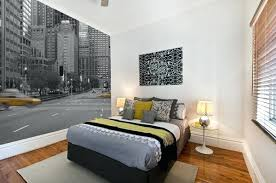 New York Bedroom Themes Colour Pop New York Themed Bedroom Wallpaper