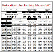 Lotto Chart Thailand Lotto Chart 16th February 2017 Thailand News And