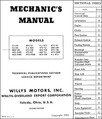 willys repair shop manual reprint jeepster cj truck this manual covers 1946 1953 willys models including jeepster cj 2a cj 3a pickup truck station wagon sedan delivery 463 473 475 663 673 685