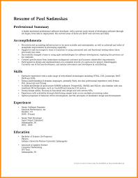 Resume Summary Statement Examples 2017 69 Images Customer Human