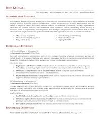 Resume Examples Admin Assistant Resume Format For Administrative