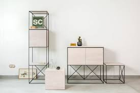 architectural furniture design. Modules Is A Modular Furniture System Combining Steel And Plywood, Designed For Blatobran Gallery By Architectural Design S