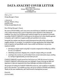 Example Of Resume With Cover Letters Data Analyst Cover Letter Sample Resume Companion