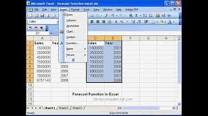 How To Make A Forecast Chart In Excel Forecast Function In Ms Excel