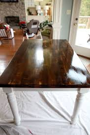 tfl diy dining table makeover i love it and would try this out if i didn t own an antique kitchen table hahaha