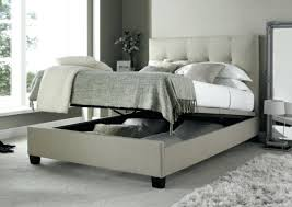 King Size Bed Base Medium Of Bedroom Footstool Single Frame With Storage Grey Fabric Ottoman Sealy Only
