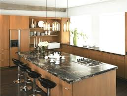 trendy kitchen design with a farmhouse sink flat panel cabinets medium tone wood laminate countertops