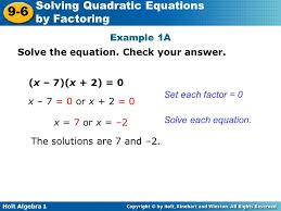 example 1a solve the equation check your answer x 7