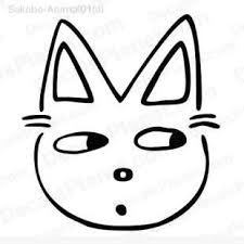 easy cat face drawing.  Cat Cat Face Drawing 3 Listed In Cartoons Decals Inside Easy Face Drawing N