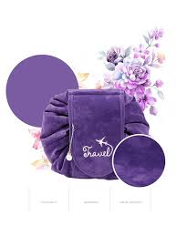 Buy String <b>Makeup Bag</b> Simple <b>Portable Travel</b> Cosmetic Organizer ...