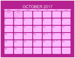 october calendar template 2017 free download free design and